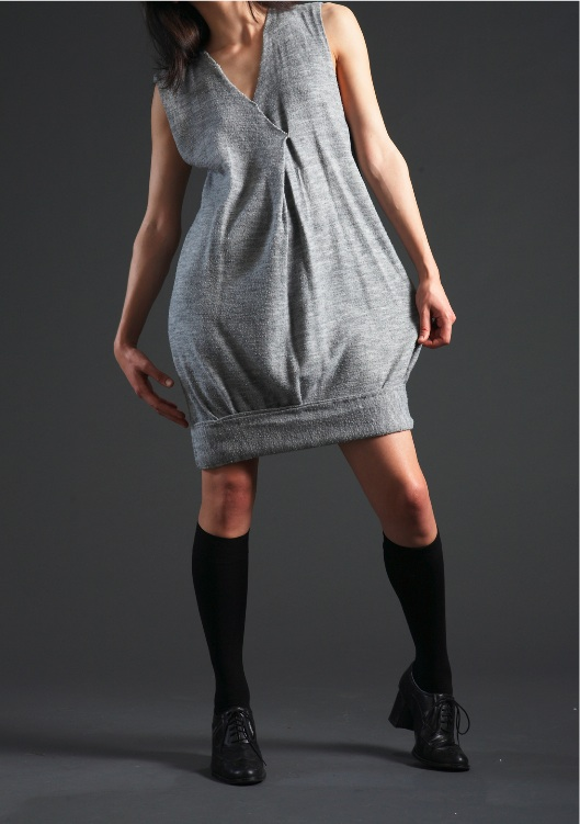 grey woolen dresshead