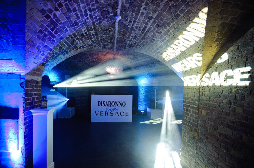 at the DISARONNO wears VERSACE launch party at One Mayfair, London
